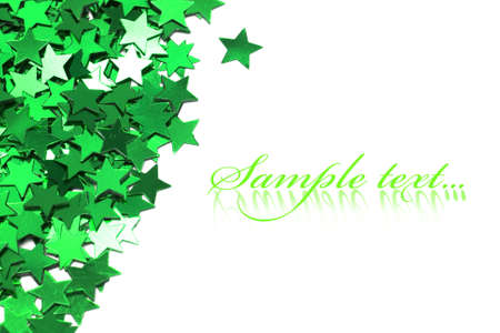 celebration stars on white background Stock Photo - 9110775
