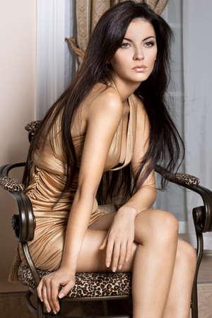 beautiful fashionable woman in the inter Stock Photo - 9110839