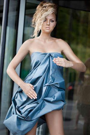 beautiful woman look like mannequin Stock Photo - 9342685