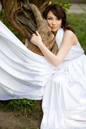 wonderful girl is in the fairy-tale forest Stock Photo - 9981596