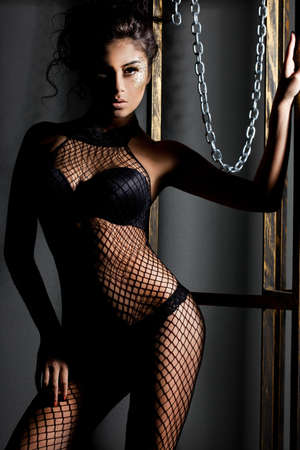 elegant fashionable woman in lingerie Stock Photo - 10823658