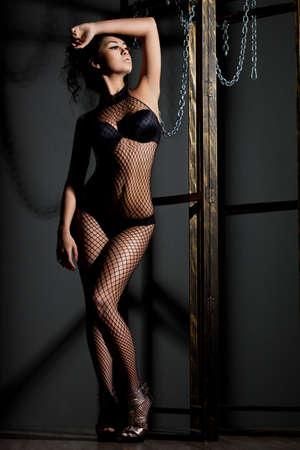 elegant fashionable woman in lingerie Stock Photo - 10823720