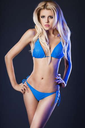 elegant fashionable woman in lingerie Stock Photo
