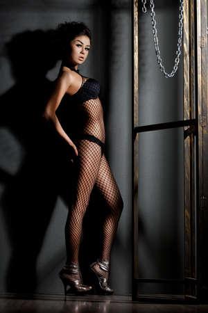 elegant fashionable woman in lingerie Stock Photo - 10966954