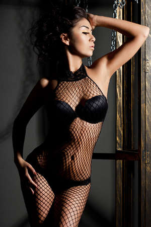 elegant fashionable woman in lingerie Stock Photo - 10966924