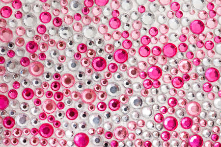 Pink and silver texture with crystals Stock Photo