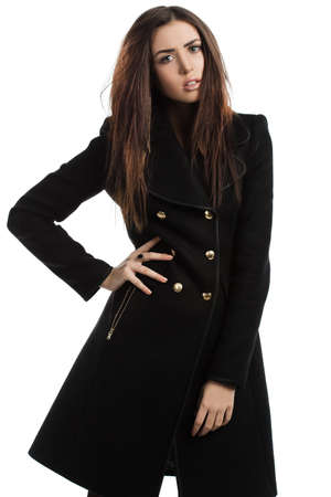 beautiful fashionable woman in coat photo