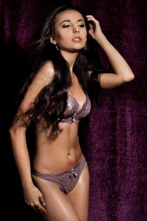 elegant fashionable woman in lingerie Stock Photo - 13603650
