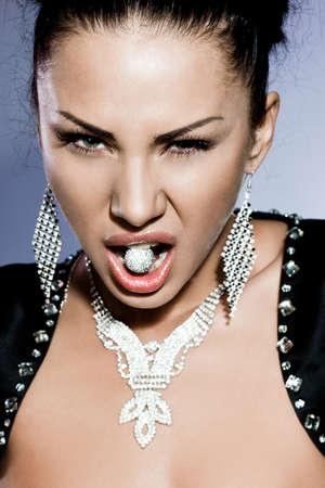 elegant fashionable woman with diamond ring Stock Photo - 14325063