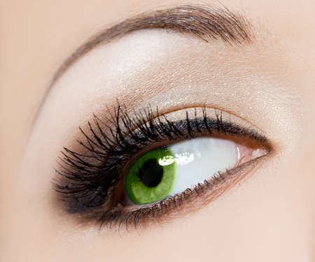 close-up of beautiful womanish eye photo