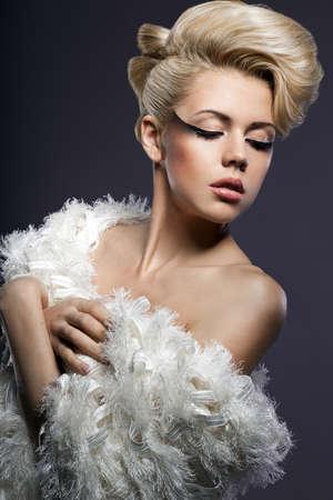 portrait of beautiful fashionable woman Stock Photo - 15574684