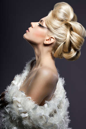 portrait of beautiful fashionable woman
