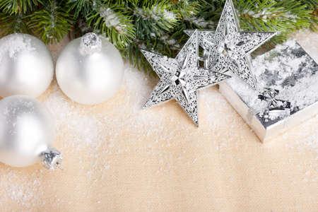 natal: Christmas decoration with festive ball Stock Photo