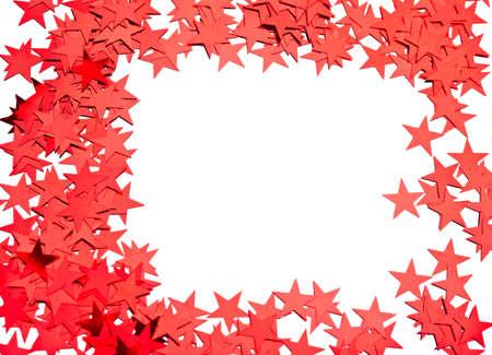 natal: many stars on white background Stock Photo