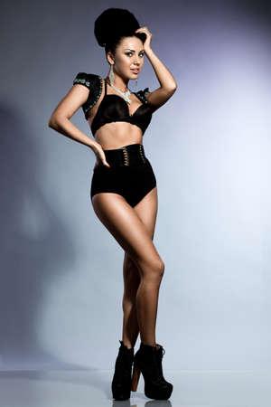 elegant fashionable woman in lingerie Stock Photo - 17288677