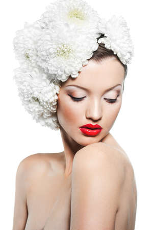 Portrait of the beautiful sweet woman photo