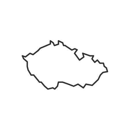 Czech Republic outline map icon. Czech Republic icon isolated on white background. Vector illustration