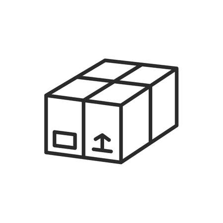 Vector Delivery box icon. Box, Package icon isolated on white background.