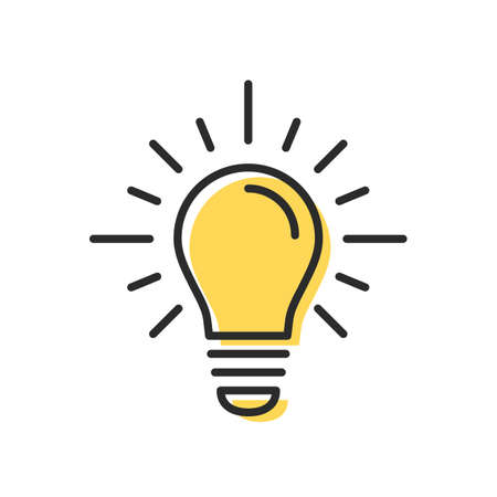 Light bulb icon. Idea, think icon concept. Vector illustration