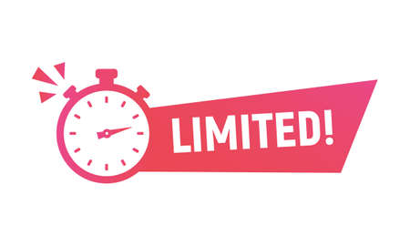 Limited Offer banner and poster. Last minute offer sticker and banner template for social media, web design. Trendy modern design with stopwatch and clock icon. Vector illustration Vektoros illusztráció