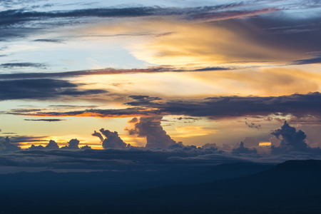 hellish: colorful dramatic cloudy sky at sunset