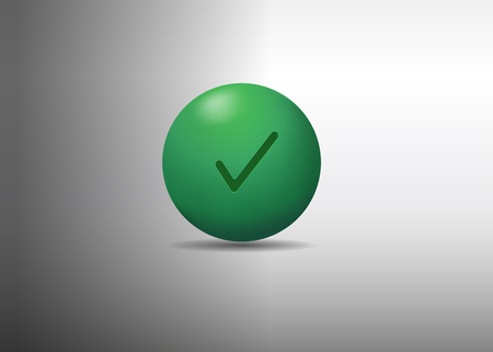 3d green ball. vector illustration
