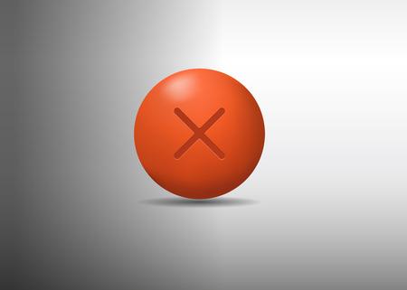 3d orange ball. vector illustration