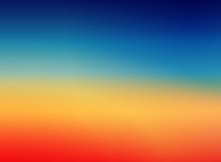 Colorful Sunset Blurred Vector Background.Red Orange Blues Gradient Mesh. Trendy Out-of-focus Effect. Dramatic Saturated Colors. HD format Proportions. Horizontal Layout