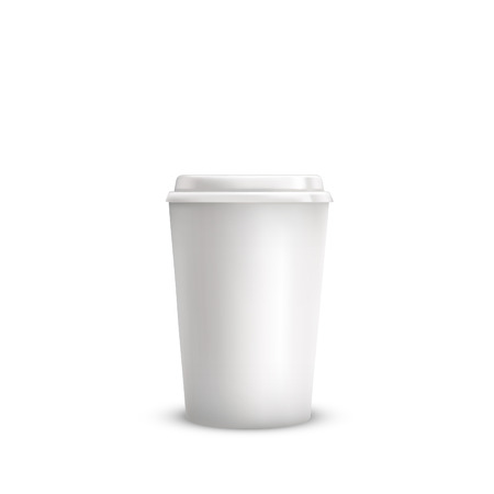Realistic coffee cup. Vector