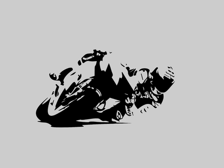 Motorcyclist during the race