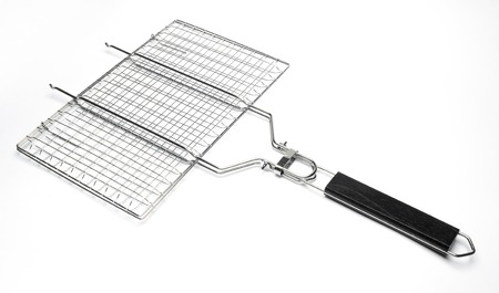 grill grate on a white background Stock Photo
