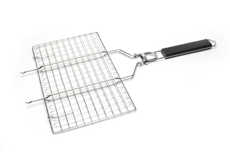 to grate: grill grate on a white background Stock Photo