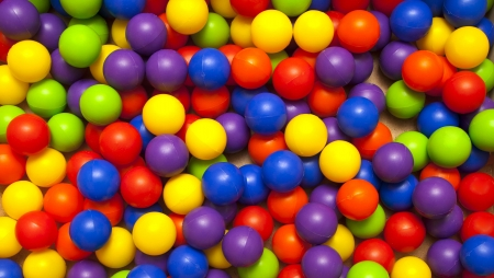 playcentre: background, colorful plastic balls on childrens playground  Stock Photo