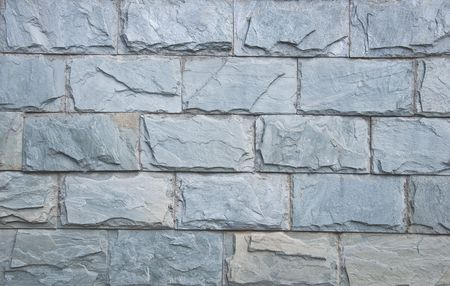 tilable: wall structure from grey bricks for background Stock Photo