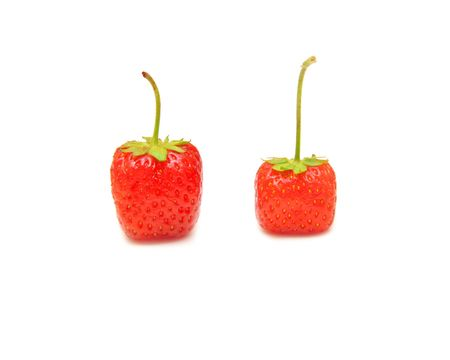 red juicy strawberry on a white background  Stock Photo - 7318949