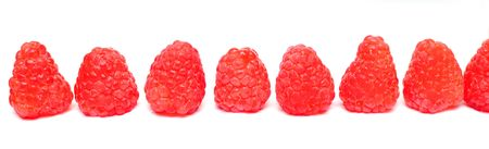fresh raspberry isolated on white background  Stock Photo - 7421966
