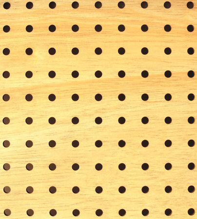apertures: wooden board with apertures on white background Stock Photo