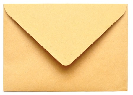 empty envelope isolated on the white background