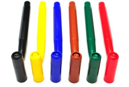 set of felt-tip pens of different colors photo