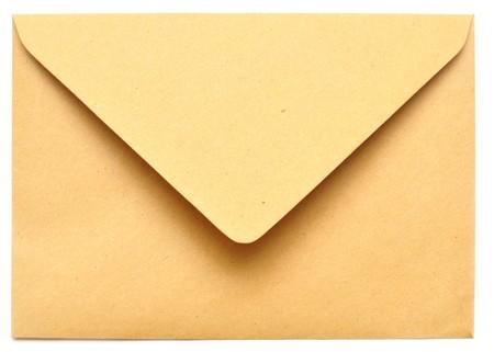 empty envelope isolated on the white background  photo