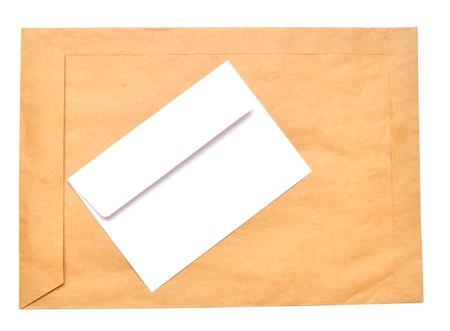 sealable: envelopes isolated on white background close up  Stock Photo