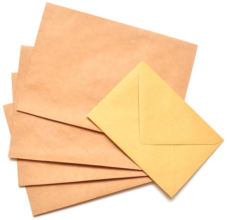 addressed: a letter envelope for mail postage shipping  Stock Photo