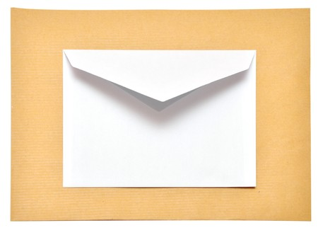 two empty envelope isolated on the white background  photo