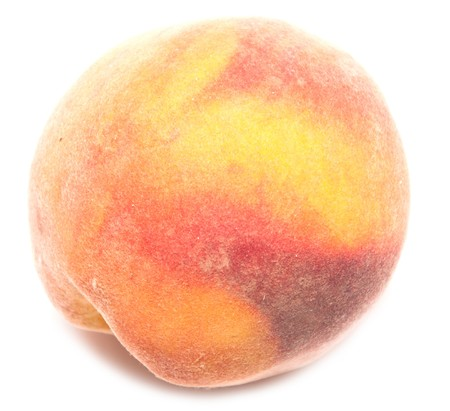 full ripe peach isolated on white background  Stock Photo - 7743312