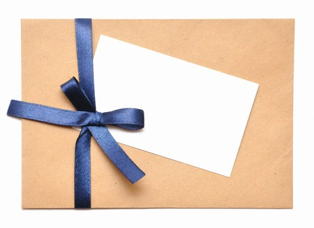 envelope with white background for christmas cards Stock Photo - 7858091