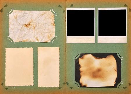 vintage page photo album with empty photos  Stock Photo - 7947174