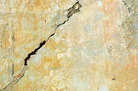 very old wall with a crack on it  Stock Photo - 8016036
