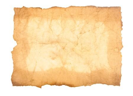 grunge vintage old paper on white background Stock Photo - 8229176