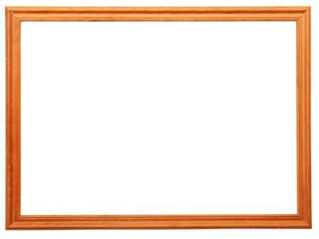wooden photo frame isolated on white background Stock Photo - 8229126
