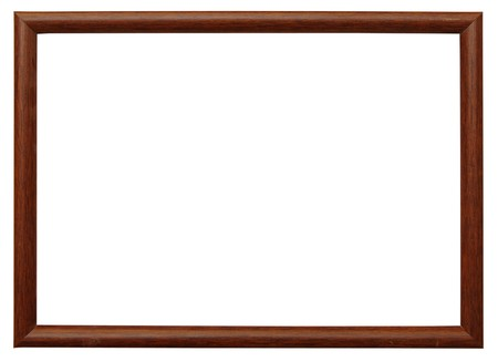 wooden photo frame isolated on white background Stock Photo - 8229117